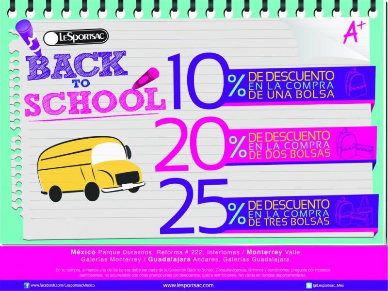 LeSpotsac: hasta 25% de descuento por el regreso a clases