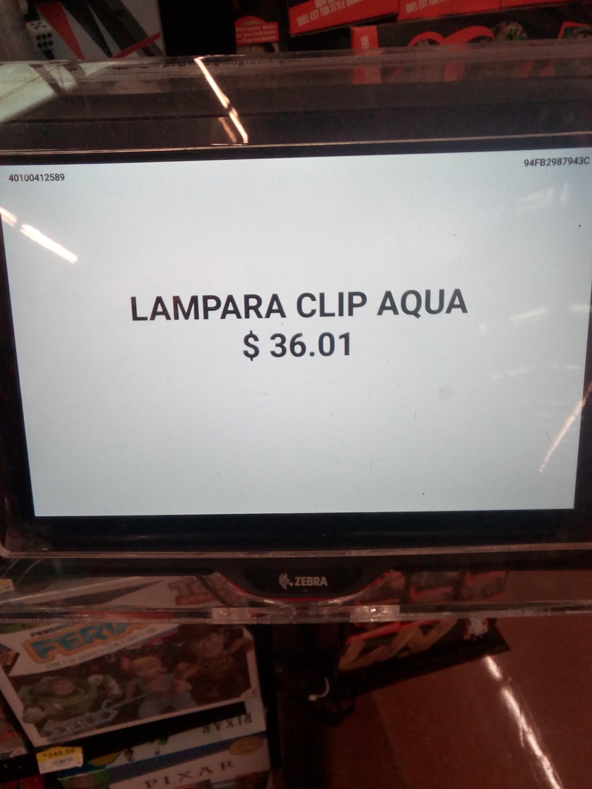 Walmart Lámpara clip y mas