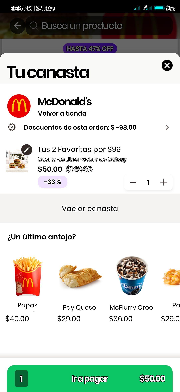 Rappi MacDonald Tus 2 favoritas a mitad de precio
