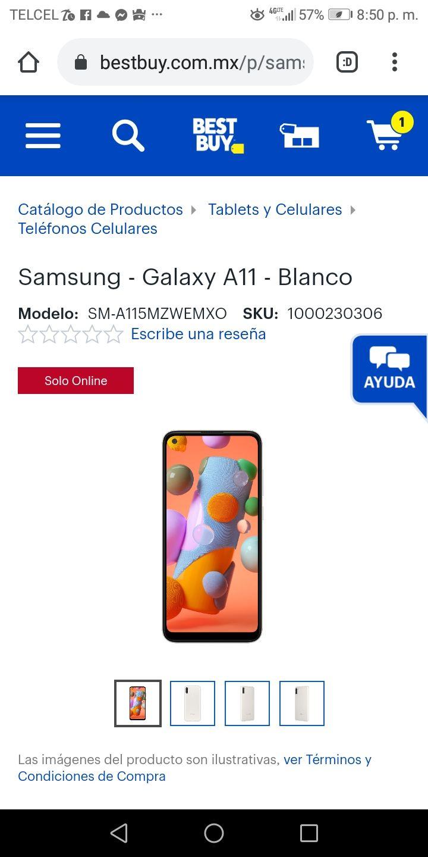 Best Buy: Samsung - Galaxy A11 - Blanco 64 GB 3 Ram