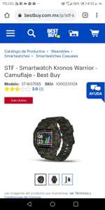 STF - Smartwatch Kronos Warrior - Camuflaje - Best Buy