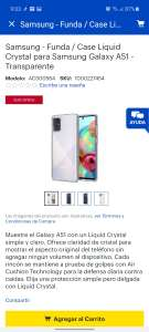 Best Buy: Funda transparente para Galaxy A51
