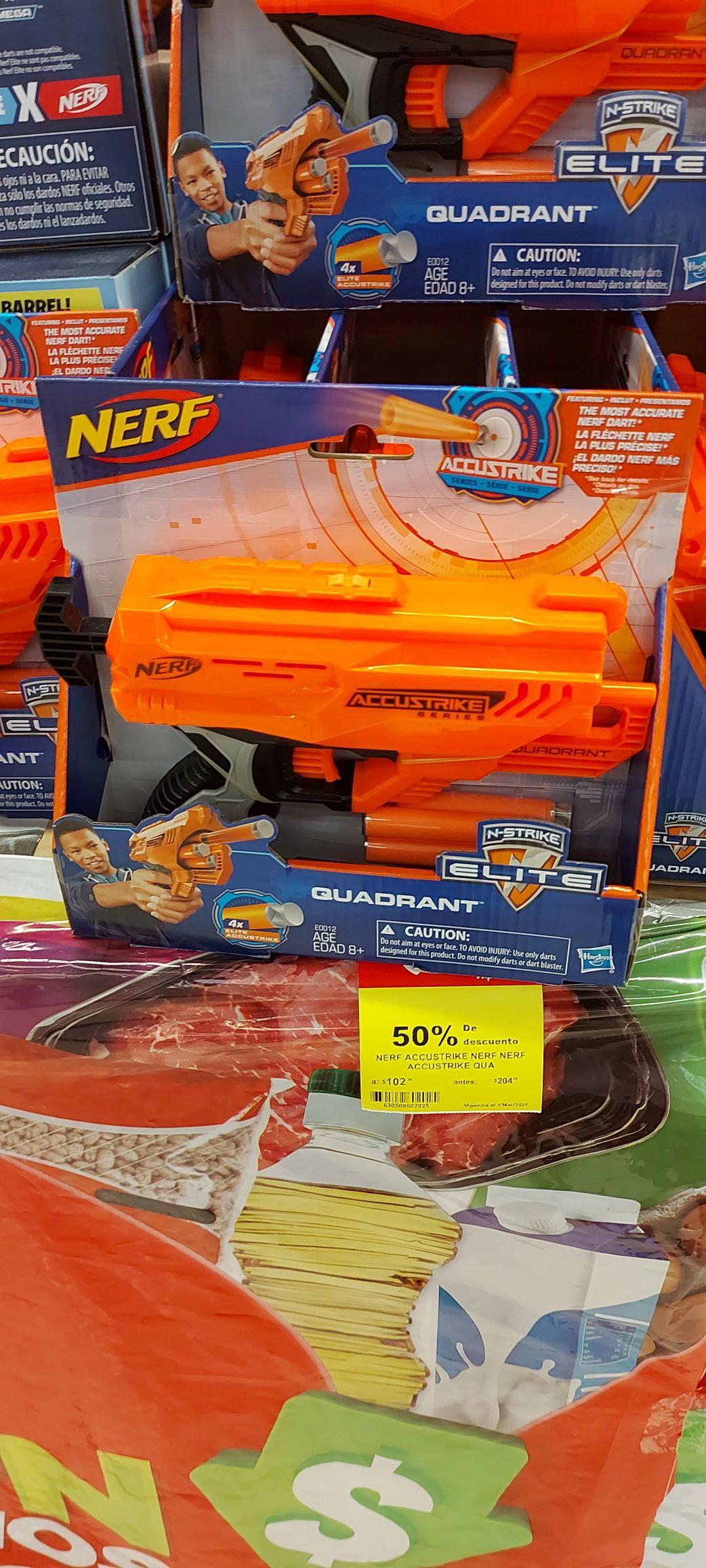 Pistola nerf en soriana Bella vista en Acapulco