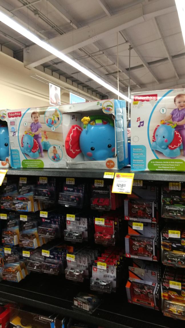 Walmart: elefante Fisher Price  3 en 1 de $799 a $416.03