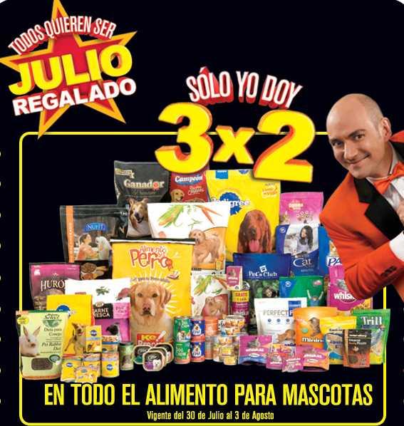 Julio Regalado 07/30: 3x2 en alimento para mascotas