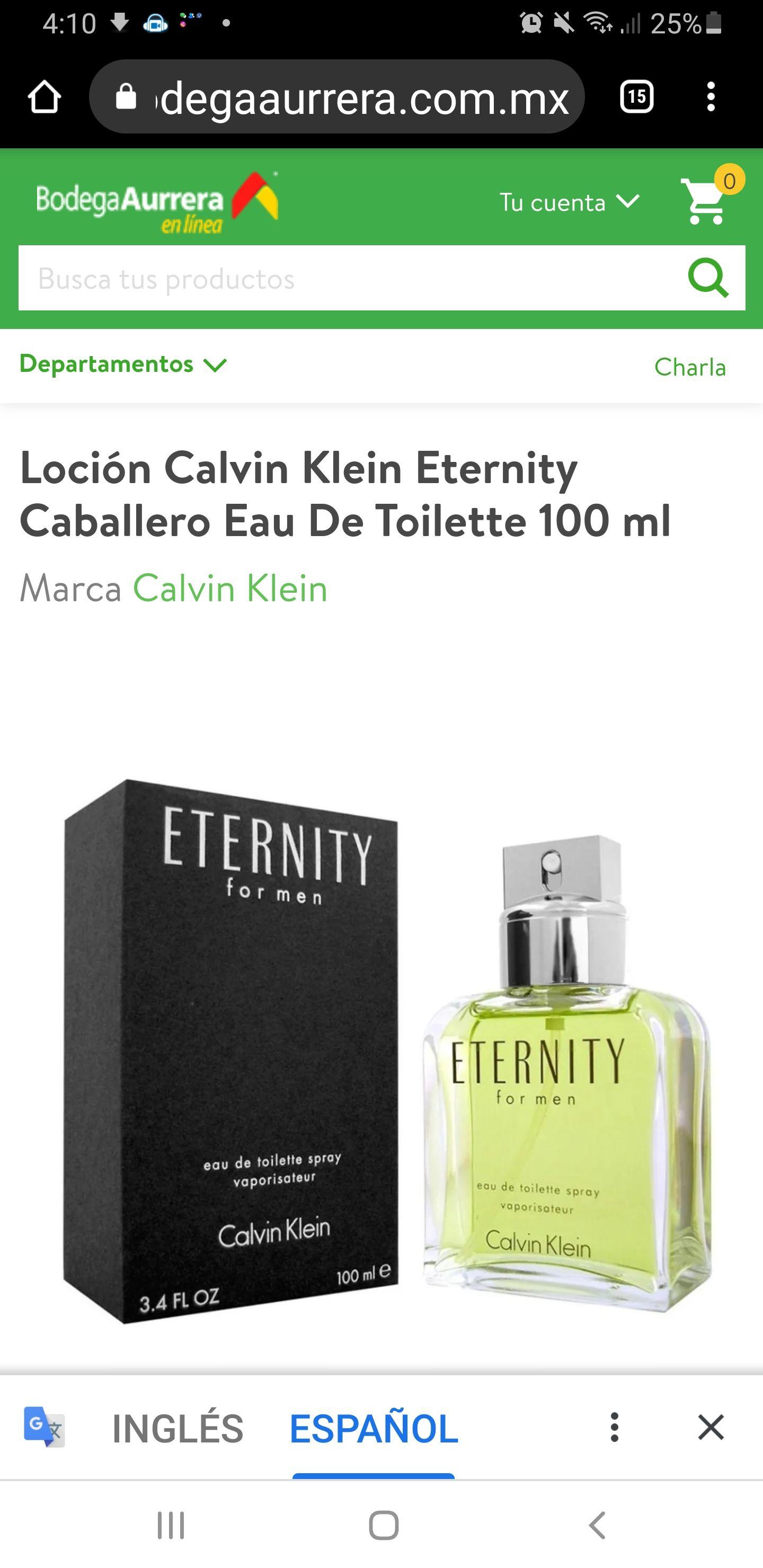 Bodega Aurrerá, Eternity para caballero