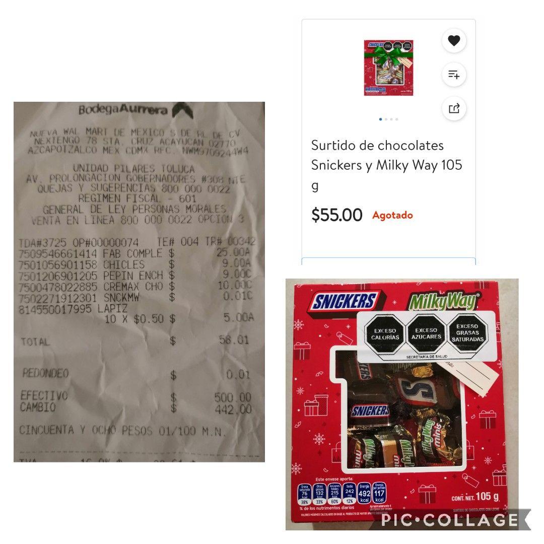 BODEGA AURRERA: $0.01 CAJA DE 105 GRS. MILKY WAY