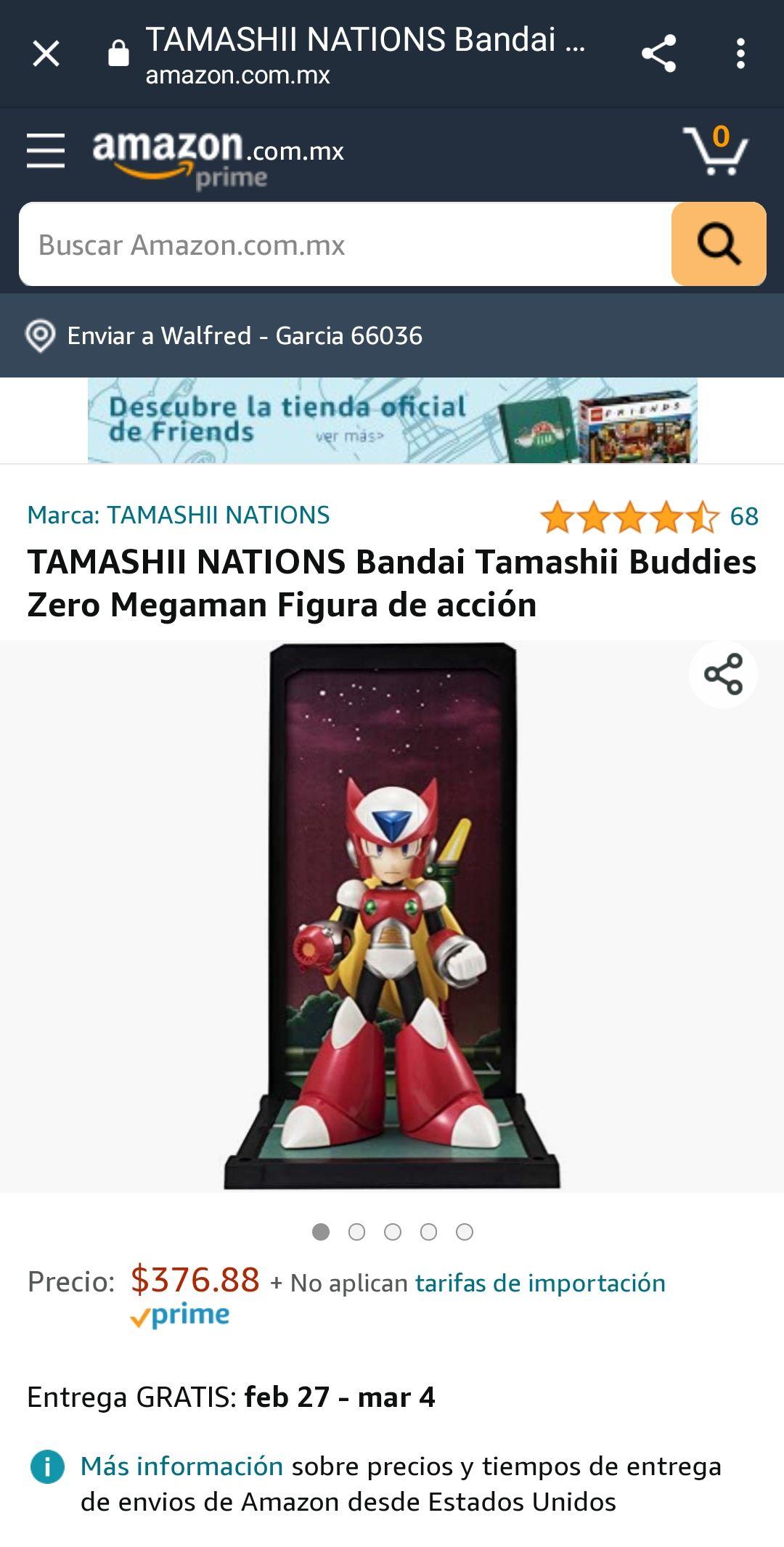 Amazon: TAMASHII NATIONS Bandai Tamashii Buddies Zero Megaman Figura de acción