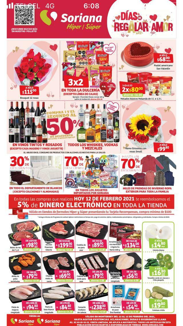 Soriana híper/super: folleto de ofertas del fin de semana