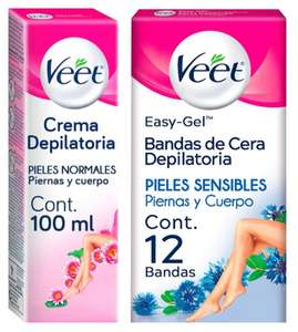 Amazon: Cremas y Bandas Depilatorias Veet con Hasta 30%