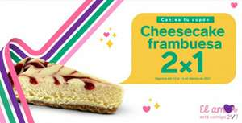 7-Eleven: Cupón 2×1 en cheesecake frambuesa este San Valentín