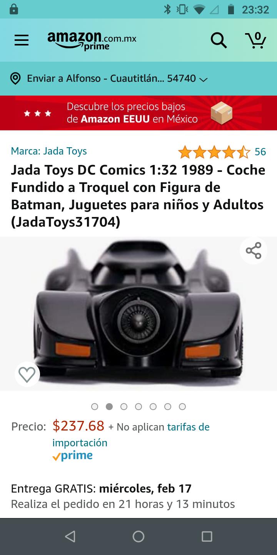 Amazon: Jada Toys DC Comics 1:32 1989 - Coche Fundido a Troquel con Figura de Batman, Juguetes para niños y Adultos (JadaToys31704)
