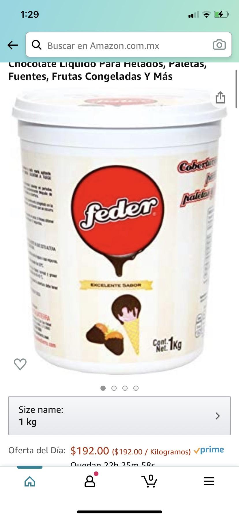 Amazon: Feder - Cobertura De Chocolate 1 Kg