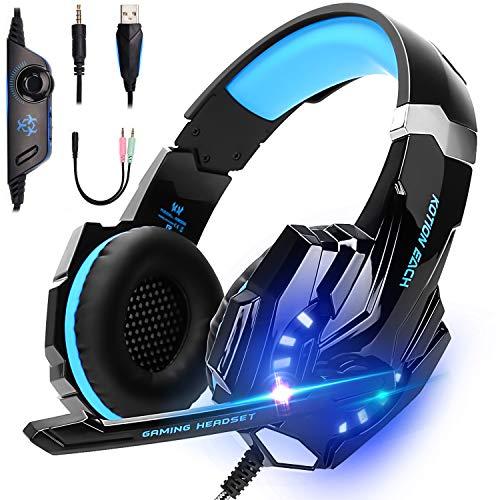 Amazon: Auriculares para juegos, con aislamiento de ruidos, cable con control de volumen