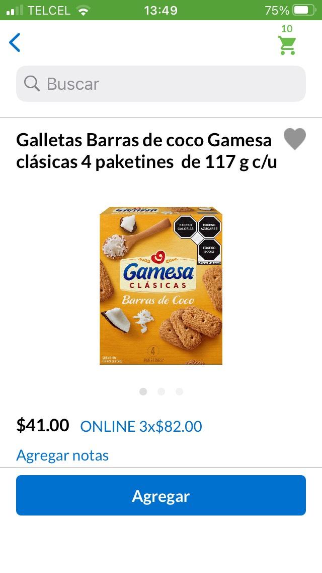 Superama, Galletas Gamesa barra de coco al 3 x 2