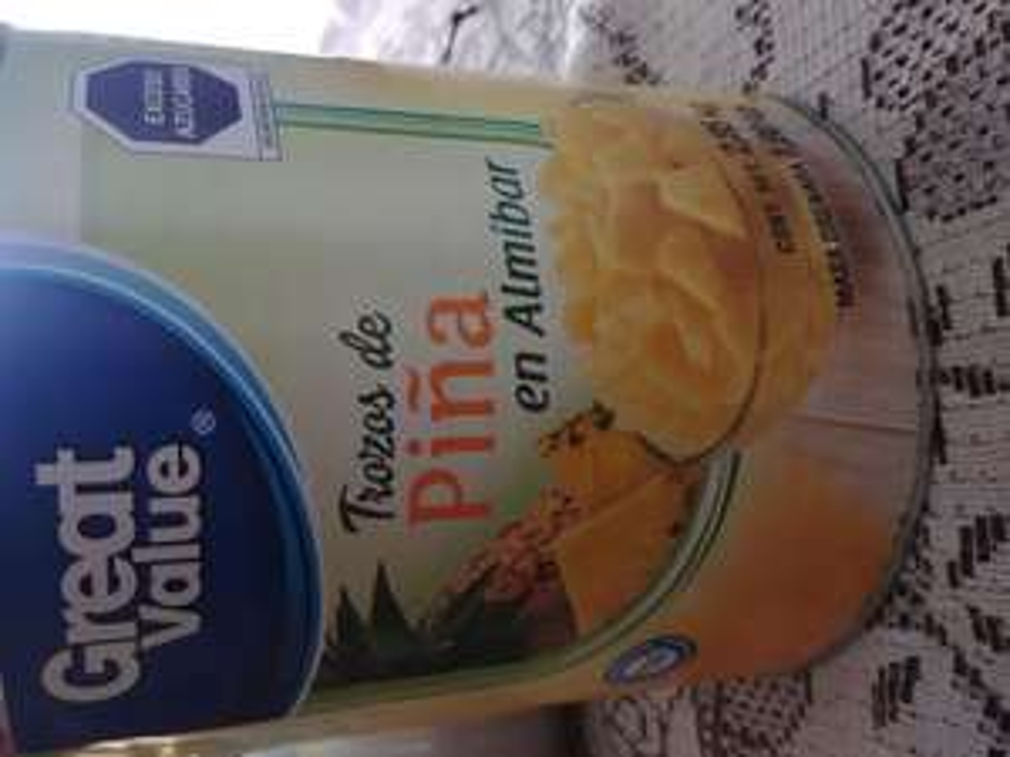 Bodega Aurrera Tlanepantla: Lata de piña Great Value de 2,85 kg