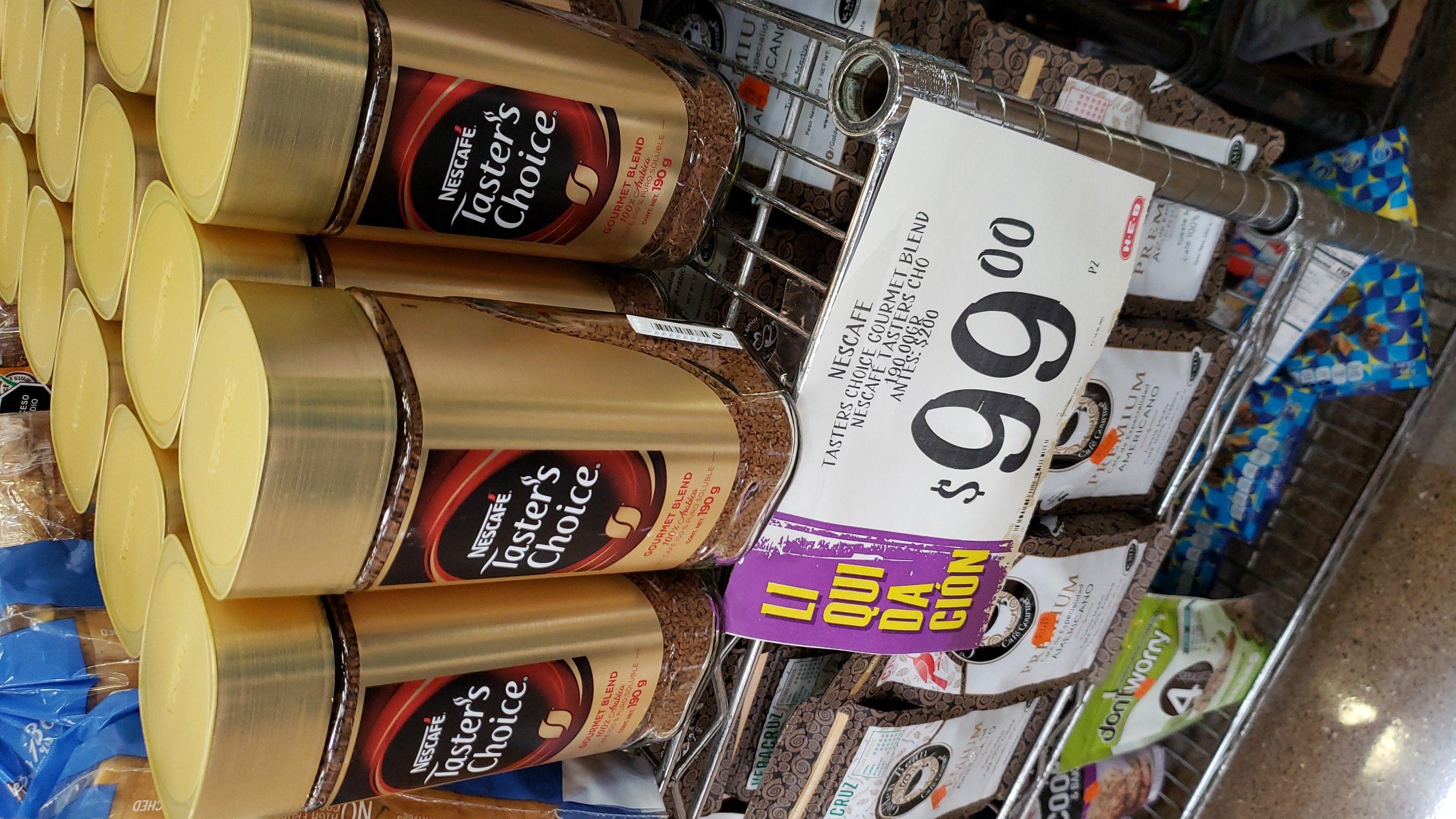 HEB SLP: Taster's Choice 190 grms