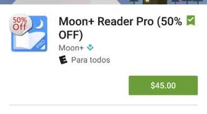 Google Play: App Moon+ Reader Pro al (50% OFF