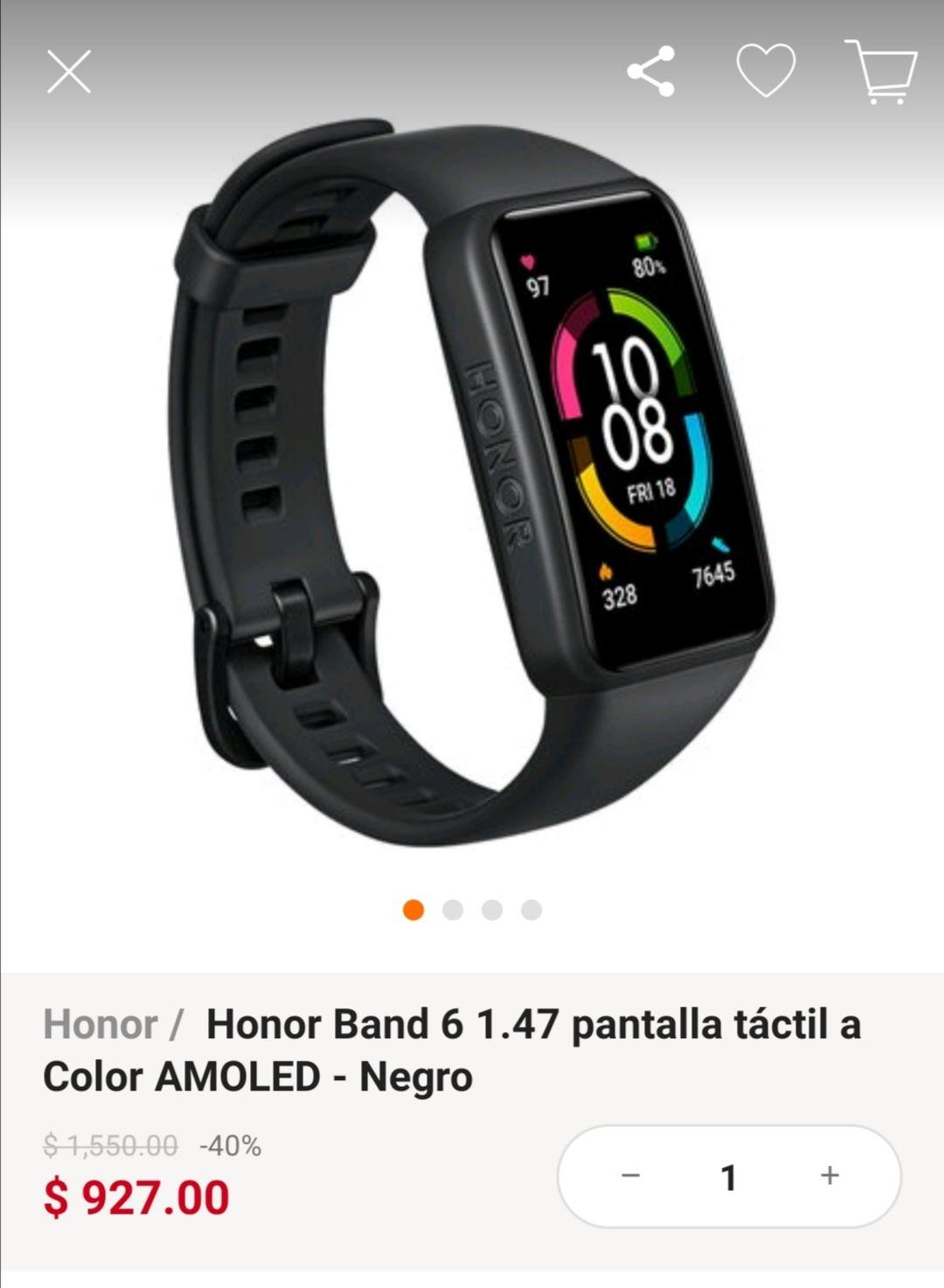 Linio: Honor Band 6 1.47 pantalla táctil a Color AMOLED - Negro