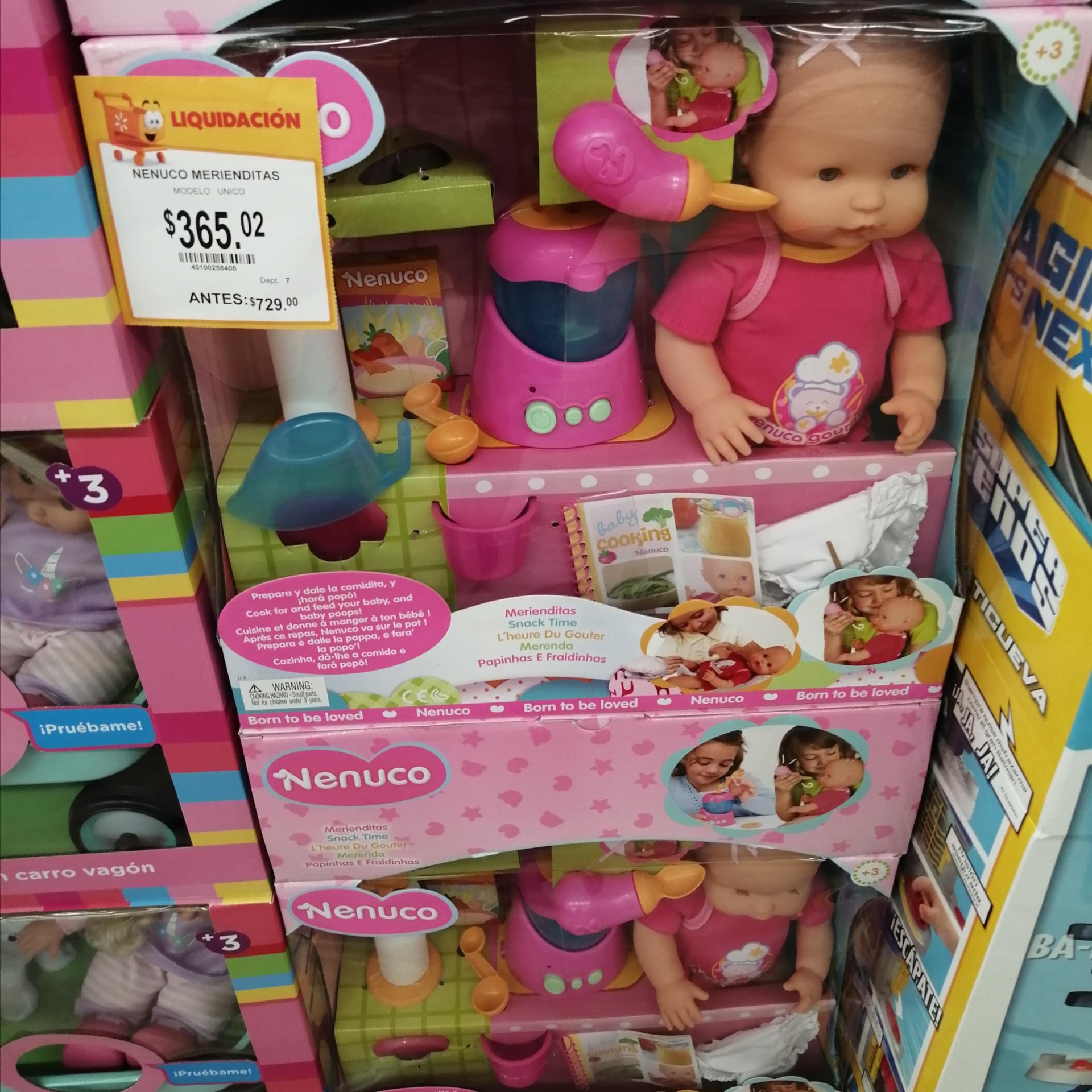 Walmart: Nenuco merienditas y otros juguetes en segunda liquidación.