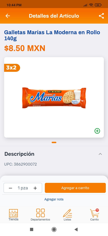 Chedraui Marías al 3*2 quedando a 5.67 c/u