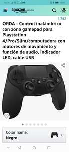 Amazon: Control inalámbrico PS4