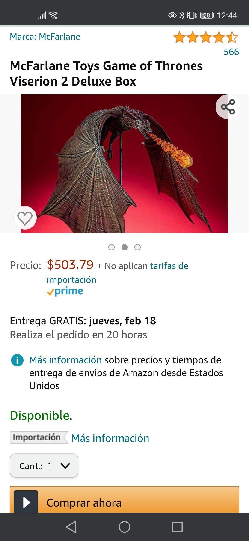 Amazon: Viserion McFarlane game of thrones