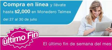 Tienda Telmex: hasta $2,000 en monedero electrónico