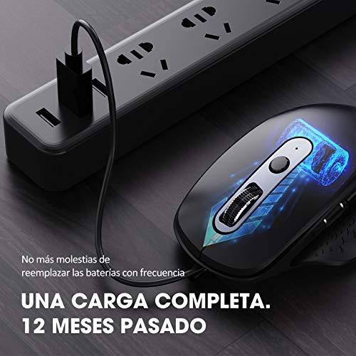 Amazon - VicTsing Inalámbrico Mouse Bluetooth Recargable de Múltiples Dispositivos