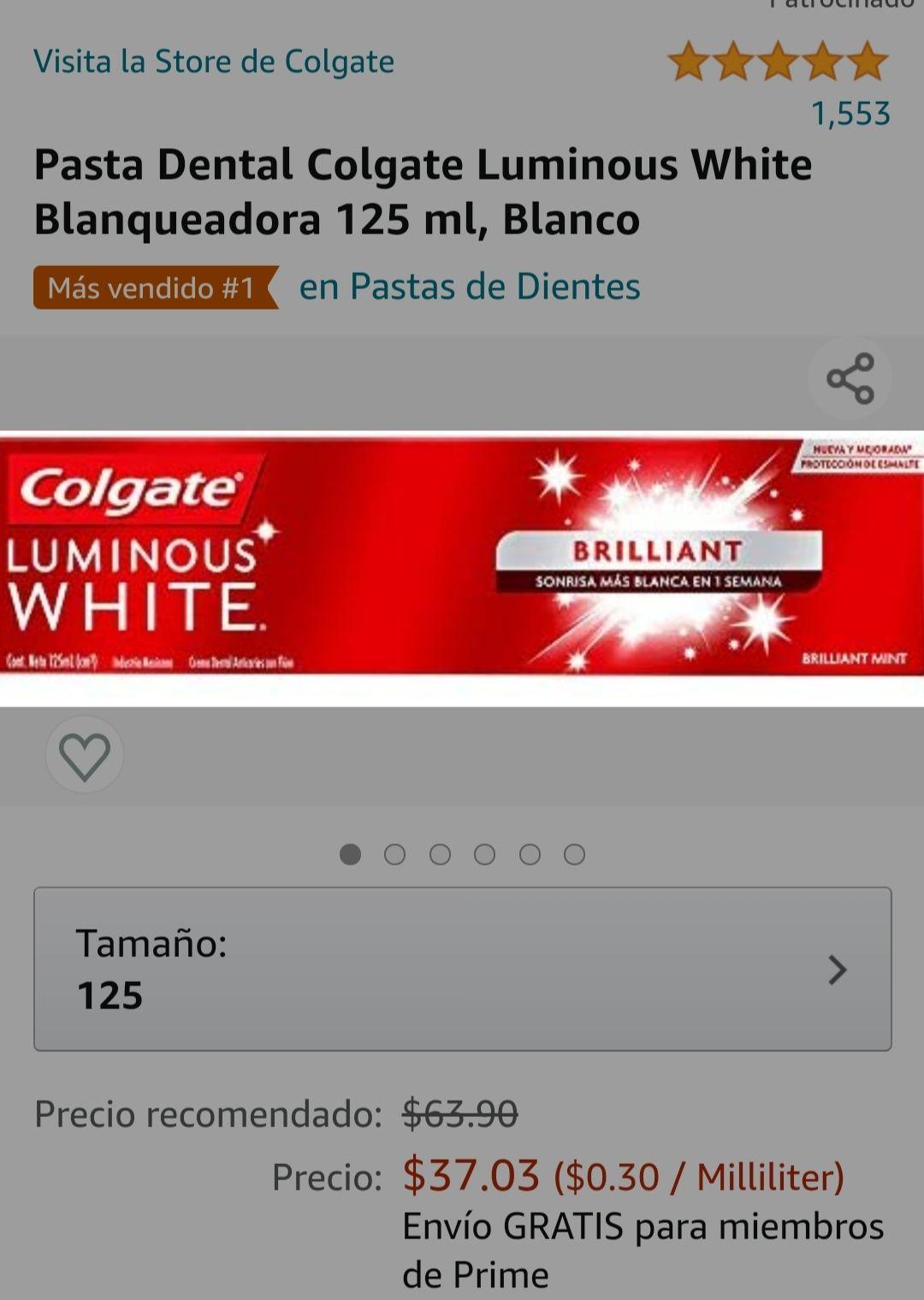 Amazon: Pasta Luminous white 125 ml