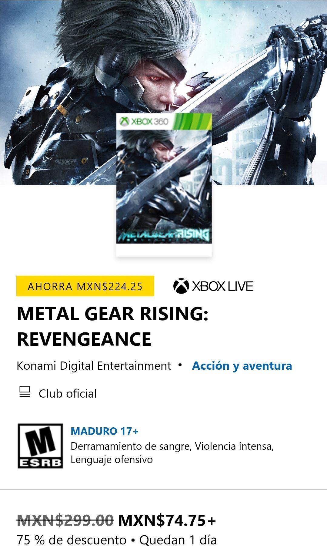 Microsoft Store: Metal Gear Rising: Revengeance