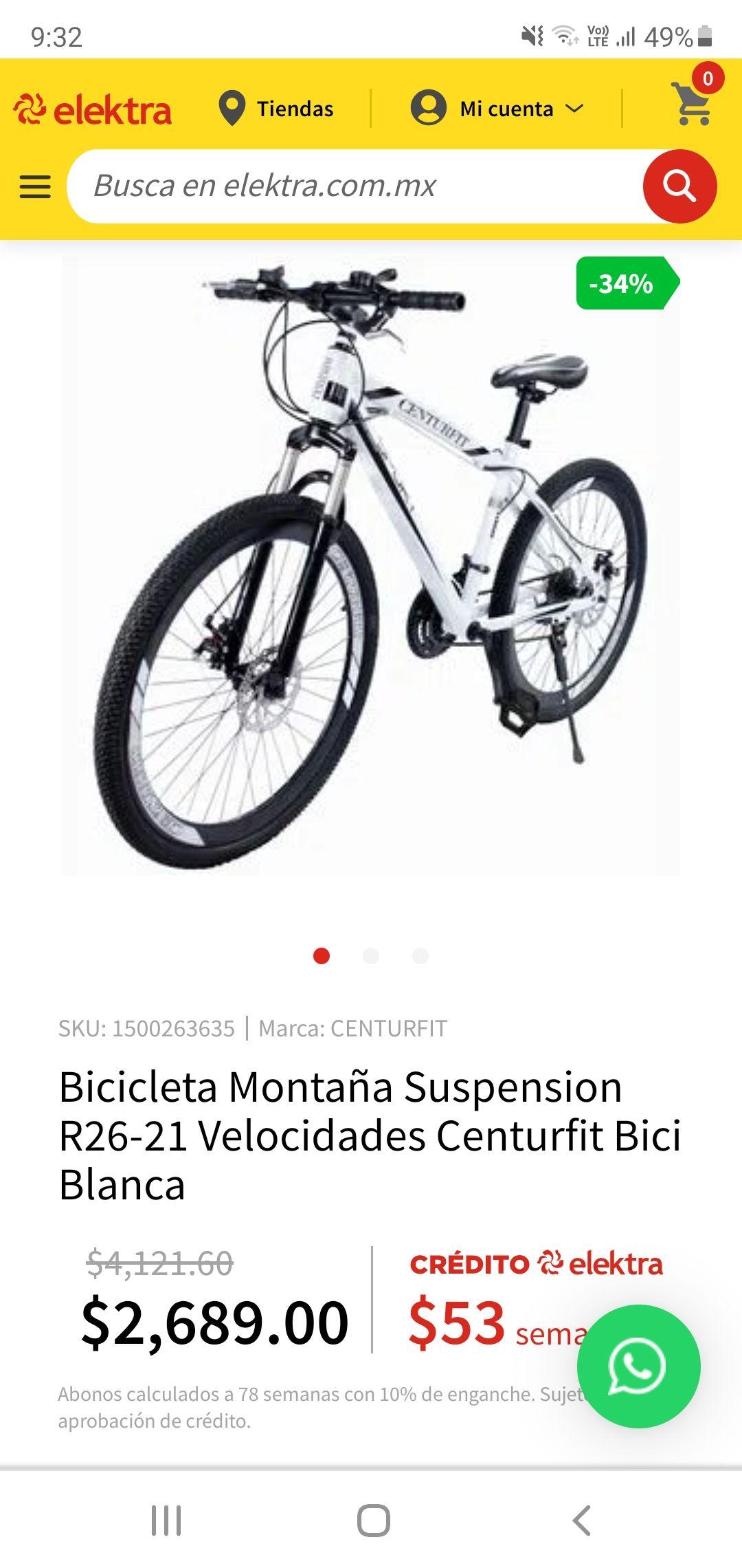 Elektra Bicicleta de Montaña Centurfit R26 21V