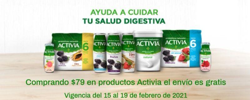 Chedraui: Envío gratis en la compra de $79 en productos Activia