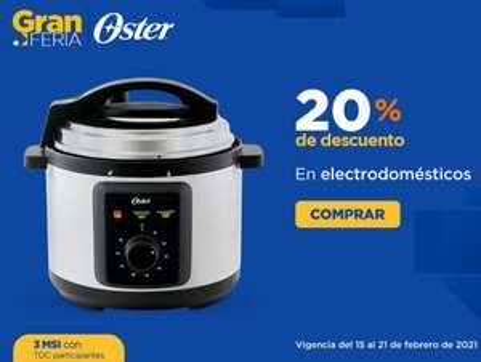 Chedraui: 20% de descuento en electrodomésticos Oster
