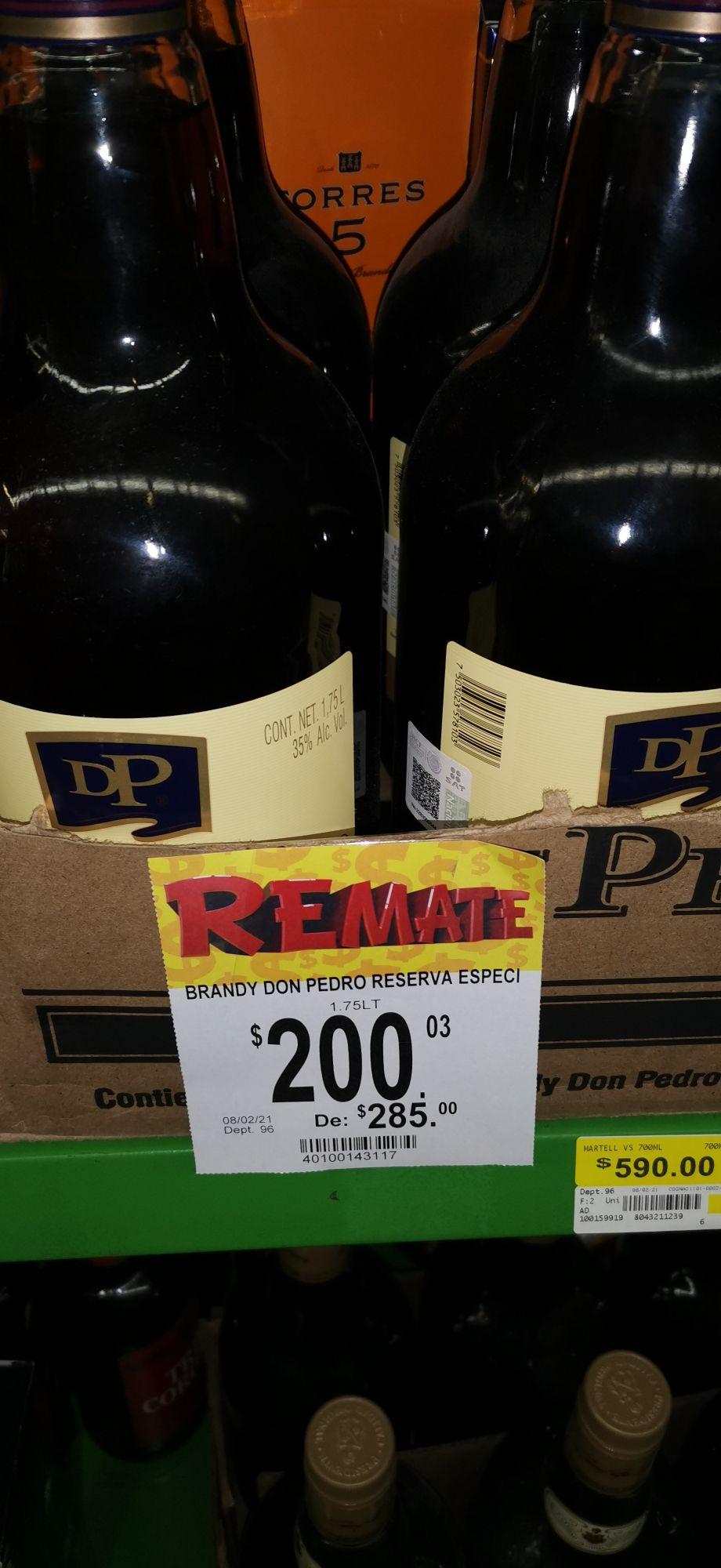 Bodega Aurrera Brandy Don Pedro 1.75 lts en 200 pesos