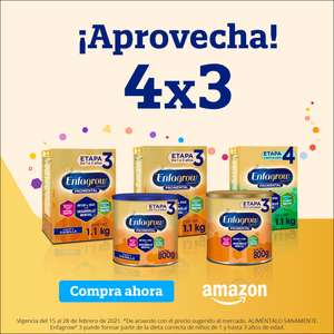 Amazon:4x3 en Enfagrow Premium Promental Etapa 3 1.1kg.