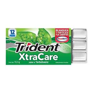 Amazon: Trident Xtra Care Yerbabuena, Pack 12x12's - 195.8 Gramos