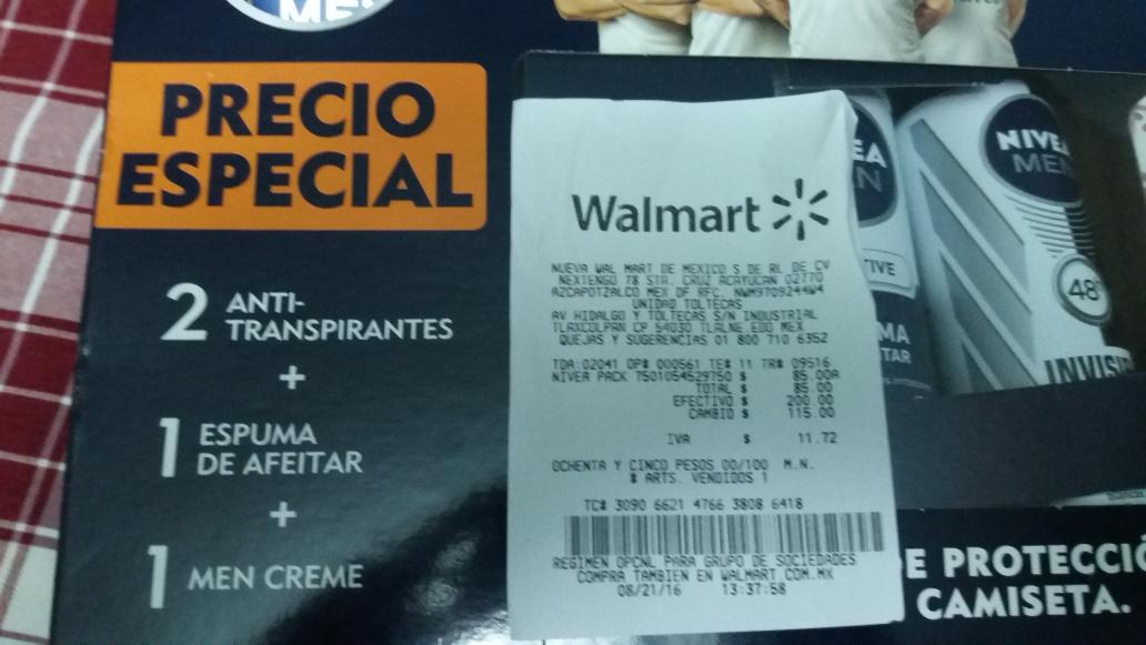 Walmart: Kit Nivea Pack a $85
