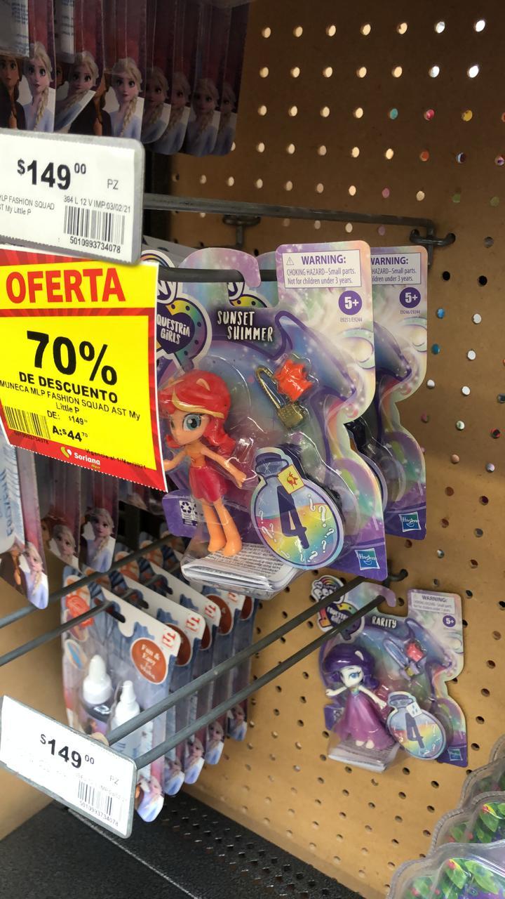 Soriana Hiper Cocoyoc: equestria girls con el 70%