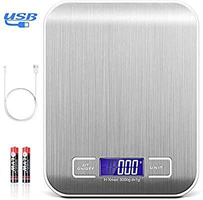 Amazon: TECHVIDA Báscula Digital de Cocina USB de 5 kg