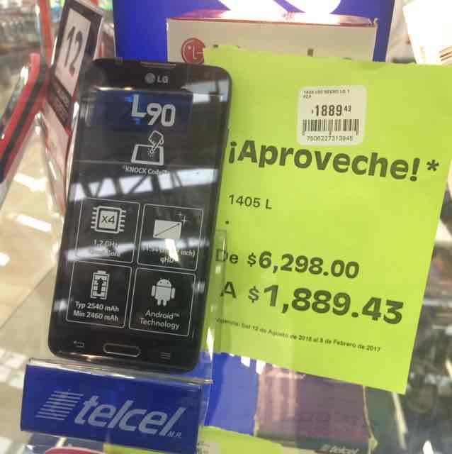 Comercial Mexicana: LG L90 a $1,889