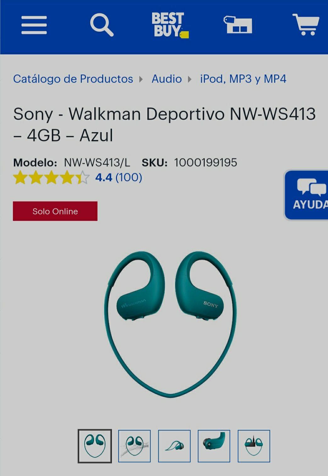 Best Buy: Sony walkman 4gb