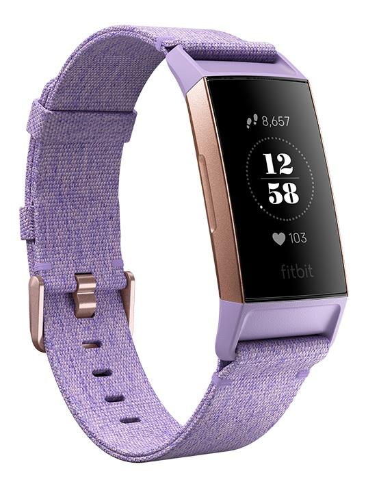 Best Buy: Fitbit – Charge 3 Reloj deportivo / Monitor de ritmo cardiaco – NFC - Lavanda/Aluminio oro rosado