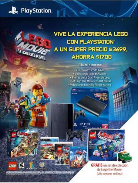 Liverpool: PS3 12GB + película LEGO, videojuego película LEGO y set de colección $3,329