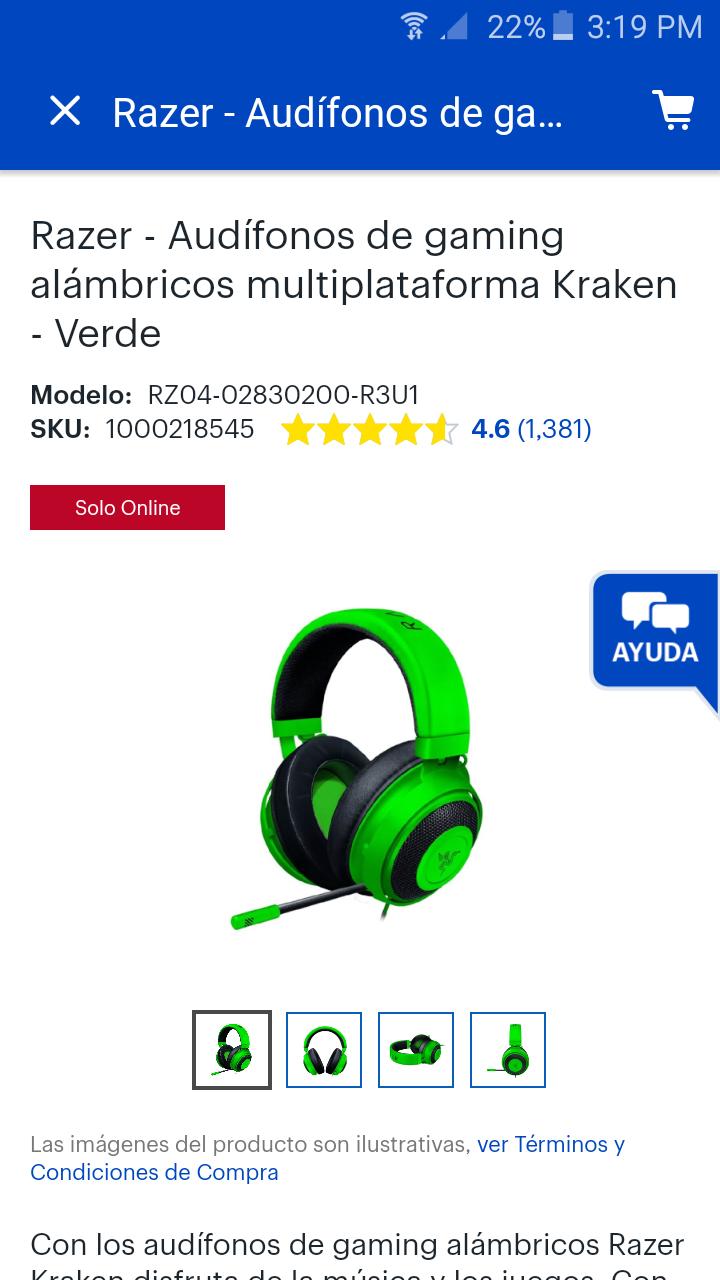 Best Buy: Audifonos Razer kraken