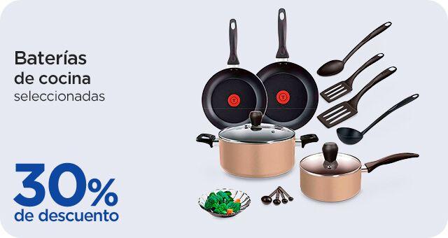 Chedraui: 30% de descuento en baterías de cocina Vasconia, Ekco, T-Fal y Tramontina