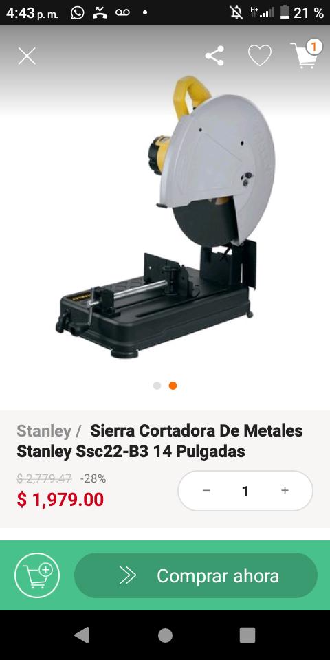 Linio: STANLEY SSC22-B3 CORTADORA DE METAL 14 PULGADAS