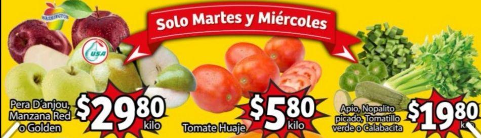 Soriana Mercado y Express: Frescura de Mercado 16 y 17 Febrero: Jitomate $5.80 kg... Pera D' Anjou ó Manzana Red ó Golden $29.80 kg.
