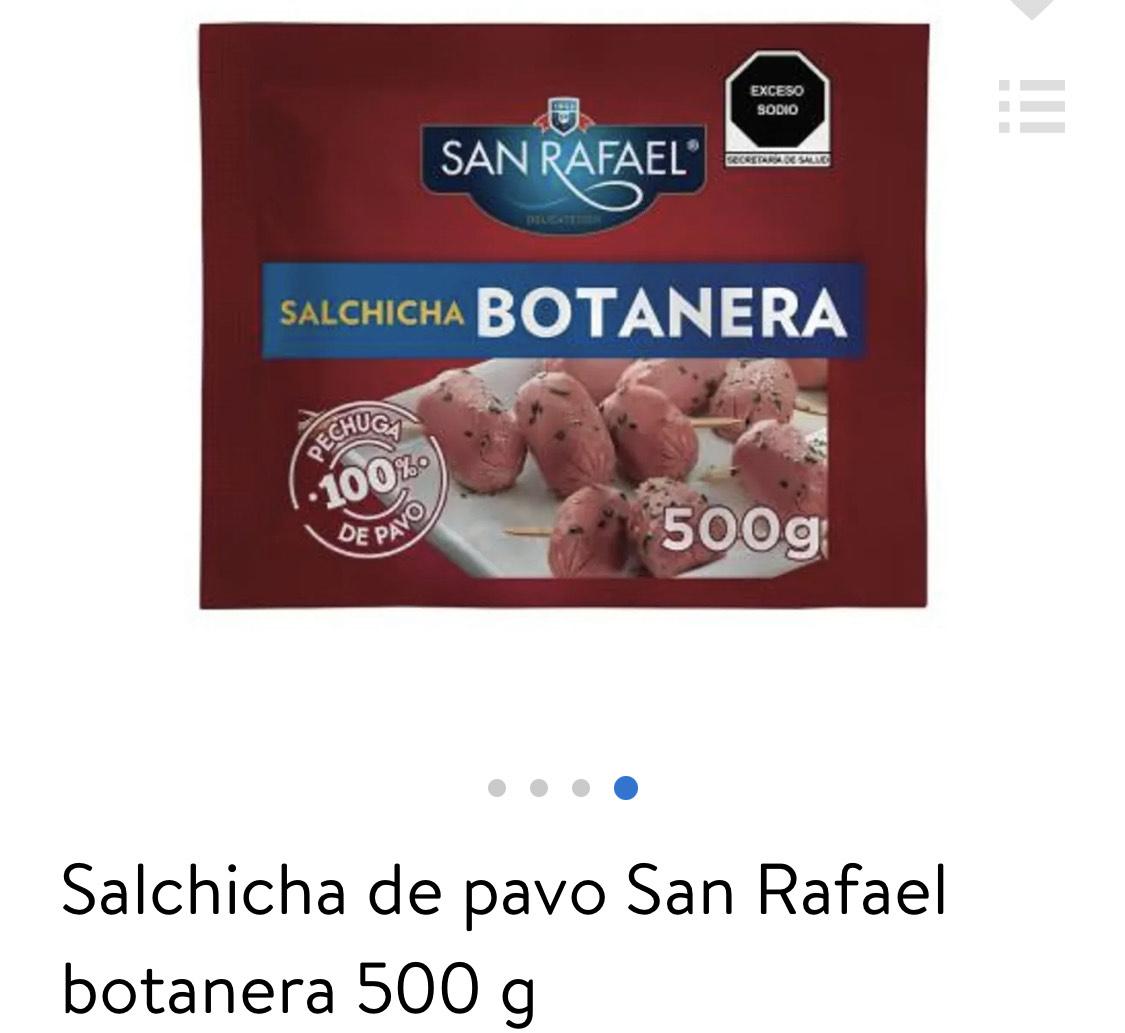 Walmart: Salchicha coctelera San Rafaél 2x120