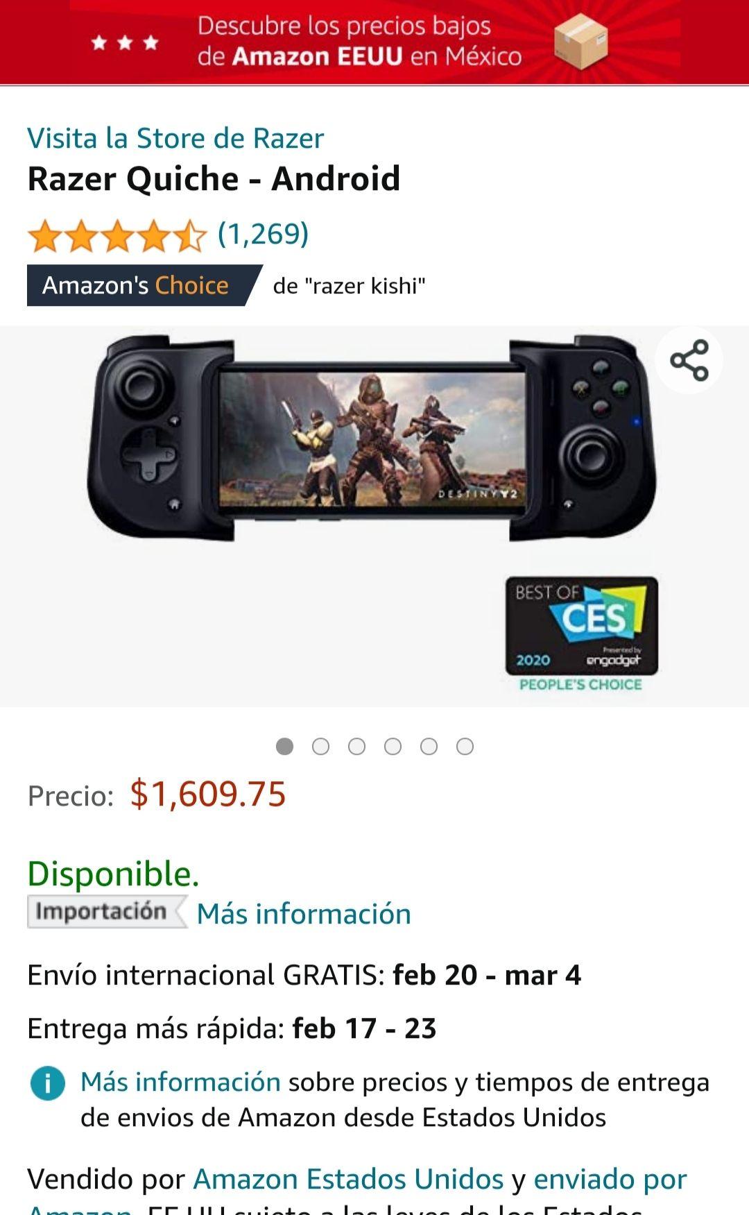 Amazon: Razer Kishi-Gamepad USB C Universal